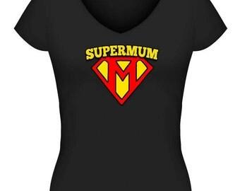 Supermum Tshirt or Singlet #1 - Black