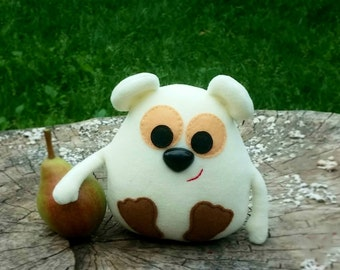 Handmade Ivory Toy Plush mouse-5 inch -Mouse Stuffed-soft toy mouse-plush toy mouse-Mouse Doll eco friendly