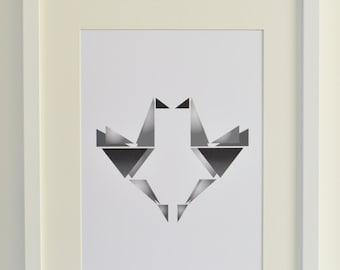 Origami Birds Art Print