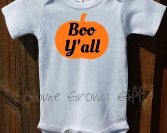 Baby Halloween Costume, Boo Y'all Bodysuit.
