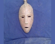 African Art Weaver Bird Mask Antique by Akamba Tribe Hand Carved