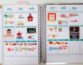 School Themed Planner Stickers