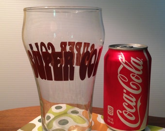 Groovy SUPER COLA huge glass from the 70s
