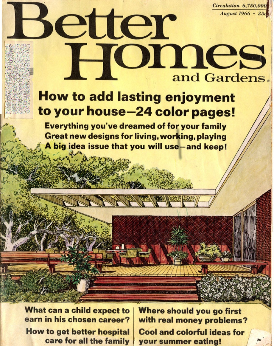 Better Homes And Gardens Magazine August 1966