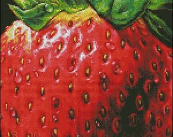 """Cross stitch pattern PDF """"Strawberry"""""""