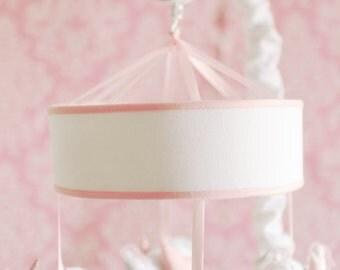 Pink Song Bird Baby Girl Musical Crib Mobile