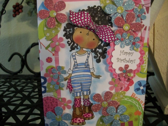 Happy Birthday Niece Images African American ~ Happy birthday handmade card african american daughter