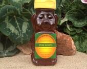 8 oz. Plastic Squeeze Honey Bear Raw Wildflower Honey