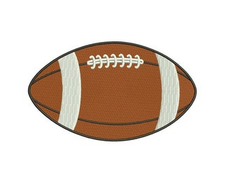 Football Sport Machine Embroidery Digitized Filled Design Pattern- Instant Download -  4x4 , 5x7, and 6x10 hoops