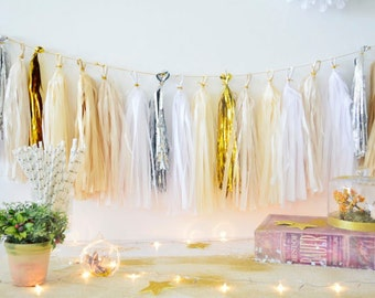 Shiny Twilight Christmas Tassel Garland - party decoration