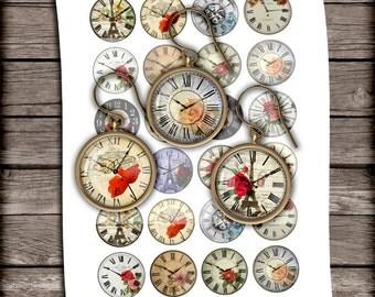Clock face earrings | Etsy