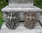 Tree Man Face {Concrete Statue, Garden Accent, Landscaping Accent, Concrete Tree Man, Concrete Plaque, Art Stone Creations concrete}