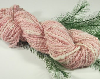 Delicate Dogwood Handspun Worsted Weight Alpaca Yarn