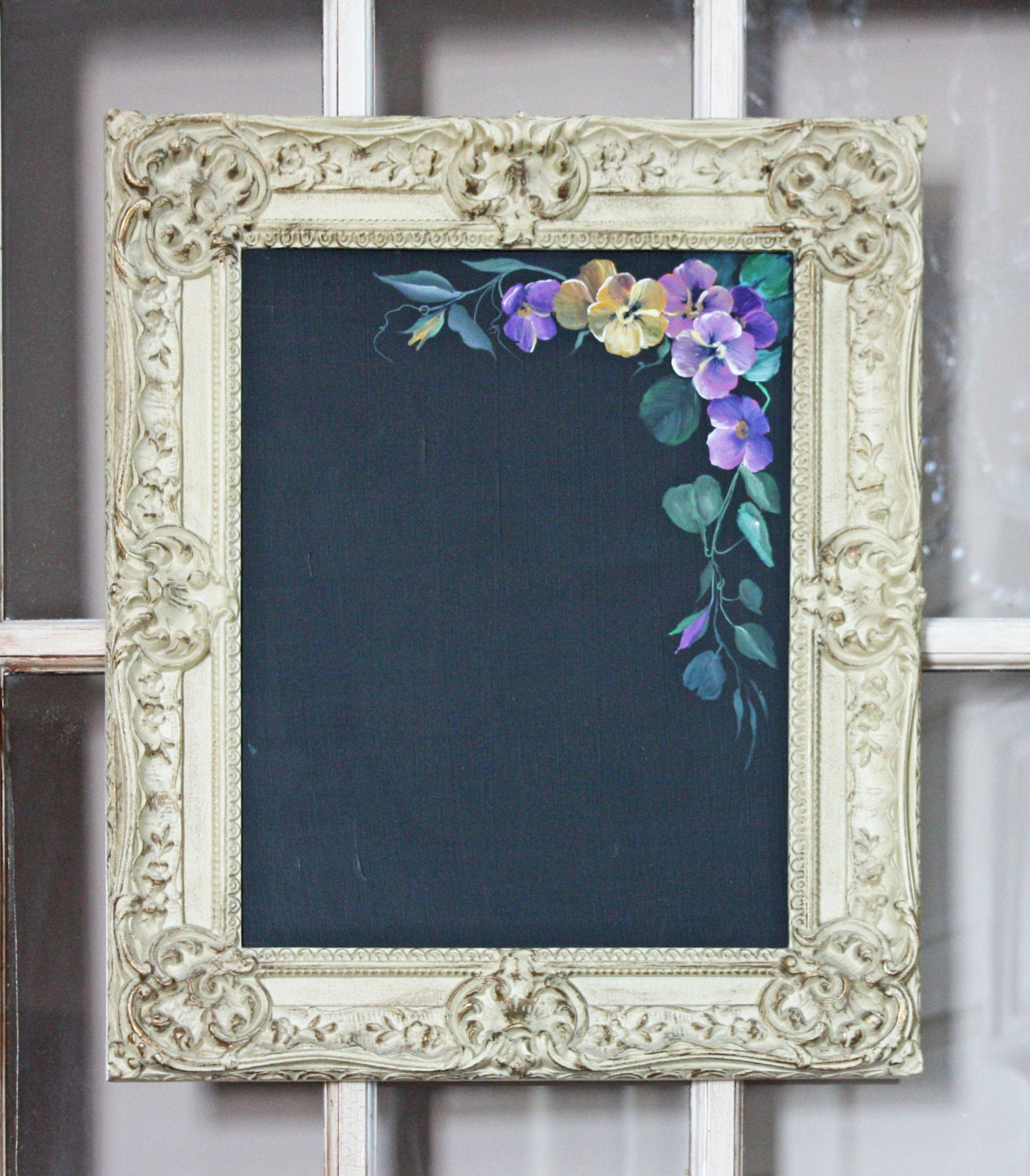 CHALKBOARDS BLACKBOARDS Large Framed MIRRORS by RevivedVintage