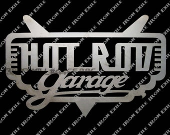 "Retro Style Hot Rod Garage Sign 24"""