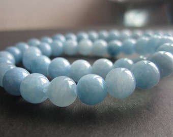 Free Shipping 2strands 6mm Natural Light Mottle Green Jade Blue Color 125Pieces JC048