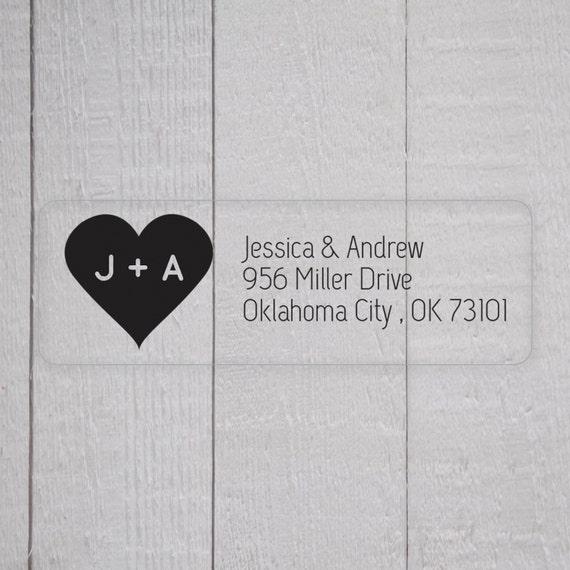Items Similar To Wedding Invitation Return Address Labels Clear Wedding Stic
