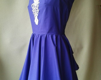 Purple dress, Alice In Wonderland style