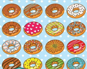 Doughnuts digital cliparts, digital images, printables, patterns, cards, backgrounds [SC-009]