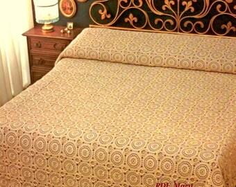 PDF Crochet bedspread pattern  - bedcover - Crochet blanket - Home decor - vintage  crochet