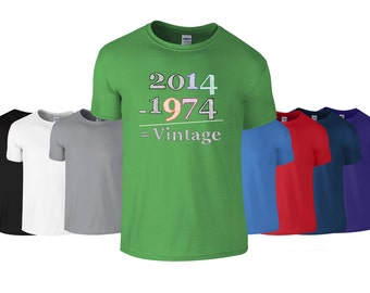 40th birthday tshirt birthday t equation vintage