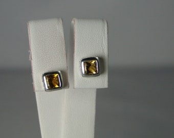 Citrine Earrings set in Sterling Silver