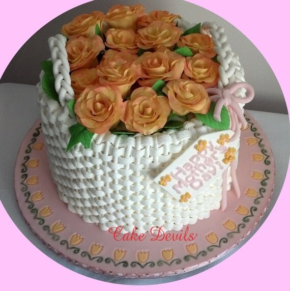 Edible Rose Cake Decoration : Yellow Gumpaste Roses Cake Topper, Rose cake decorations ...