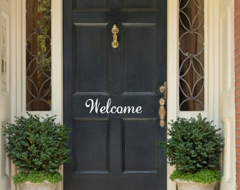 Welcome Door Decal Front Door Decal Door Vinyl Decal Welcome Decal Welcome Vinyl Decal Door Vinyl Lettering Welcome Door Vinyl