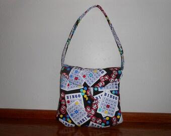 Unique Handbag, BINGO Bag, purse Handbag, Bingo Purse, Handmade Handbags, Fabric handbag