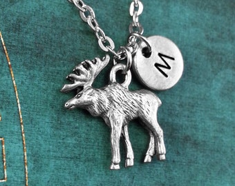 Moose necklace moose jewelry necklace wearable art pendant moose necklace personalized necklace moose pendant custom necklace animal jewelry hunting aloadofball Images