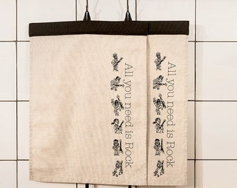 Tea towels printed by hand cotton - All you need is rock