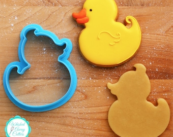 Rubber Duckie Cookie Cutter and Fondant Cutter - **Guideline Sketch To Print Below**