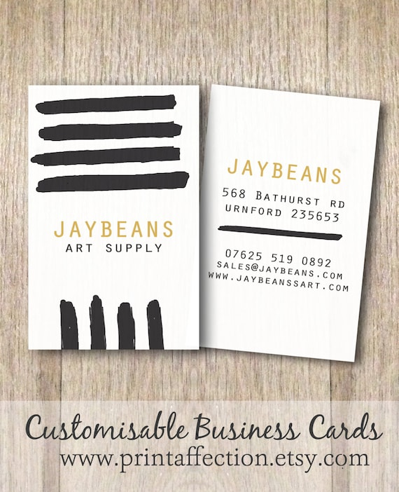 Printable Business Card Instant Download by PrintAffection