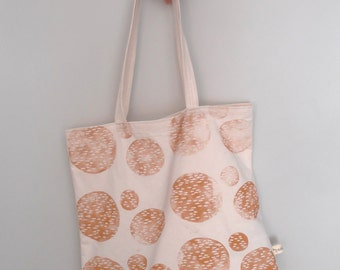 cotton tote bag // handprinted // shopper bag