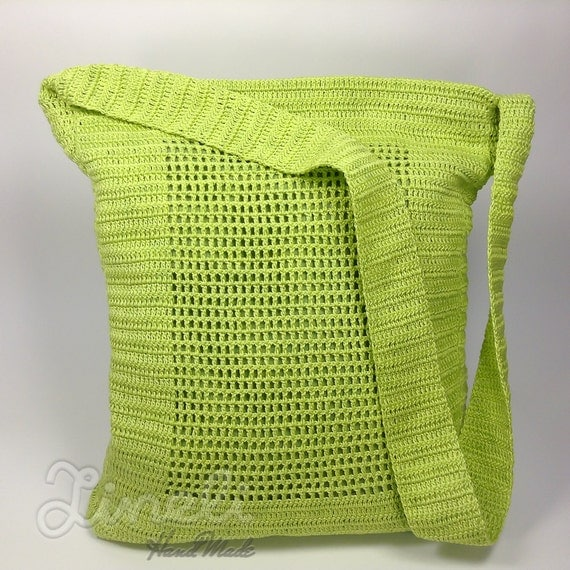 Crochet Shoulder Bag : Crochet Shoulder Bag, Vintage Crochet Bag, Shoulder Bag, Womens Bag ...