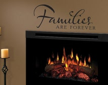 Families Are Forever Vinyl Wall Decal Kitchen Family Room Living Room Wall Art More Colors Available