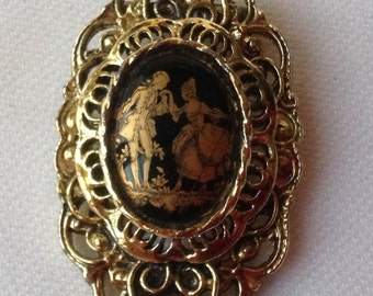 Beautiful Courting Couple Brooch