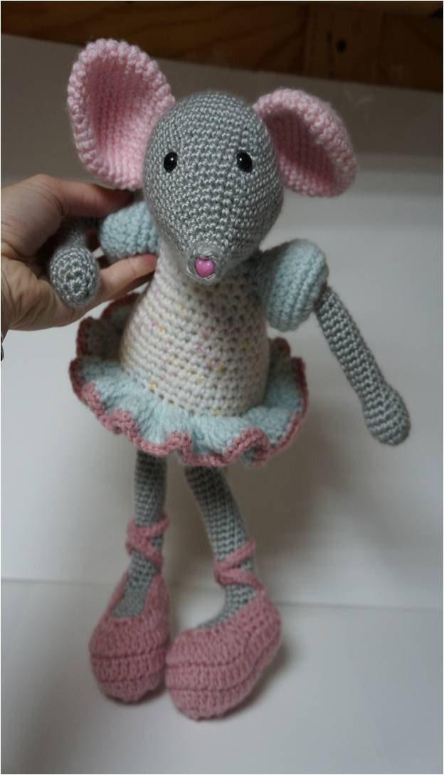 Amigurumi Ballerina Doll : Items similar to Ballerina Mouse Amigurumi Crochet Doll ...