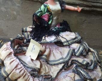 "1960's Marin Chiclana Spain Spanish Dancer / FLEMINCO Doll named ""Caracola"""