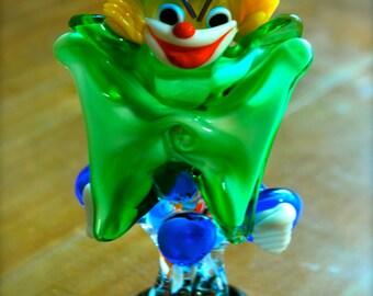 Venetian Murano art glass clown