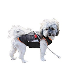 Shih Tzu Winter Dog Coat with underbelly protection - Dog Jacket - Warm Dog Raincoat - Waterproof / Fleece coat - Custom made for your dog