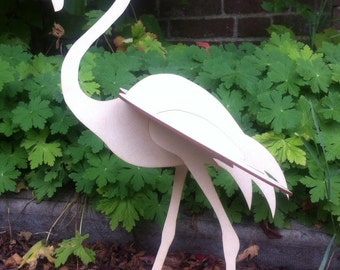 Slot - together Flamingo kit, made from fine birch plywood.