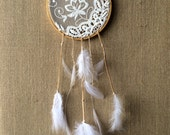 Feathered Lace Hoop Dream Catcher Wall Hanging