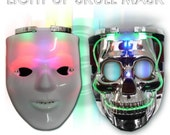 LED Rave Mask or Lighted Halloween Mask for costumes.  TWO options to choose from!