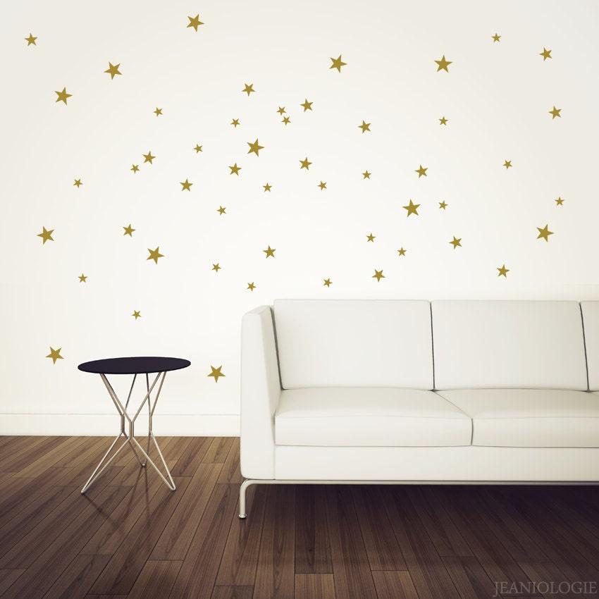 gold stars vinyl wall art decal