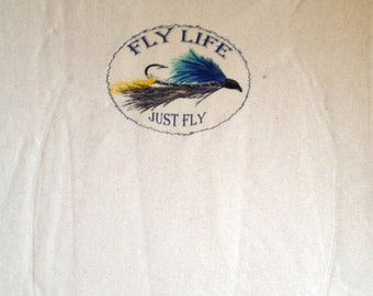 Fly Life - T-shirt - birthday gift - gift ideas - mans gift - Fly Fishing gift