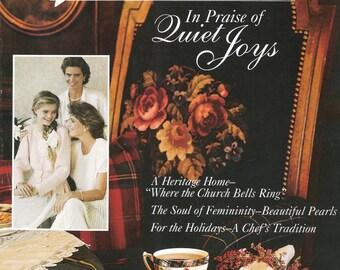 Victoria Magazine,Vintage.  In Praise of Quiet Joys, November 1990