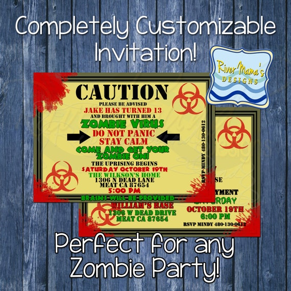 Printable Zombie Invitation
