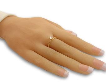 Birthstone ring -14k gold filled jewelry ,handmade jewelry, dainty ring, delicate ring gold rings for women