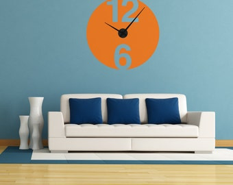 Wall Decal Clock: Minimalist Clock